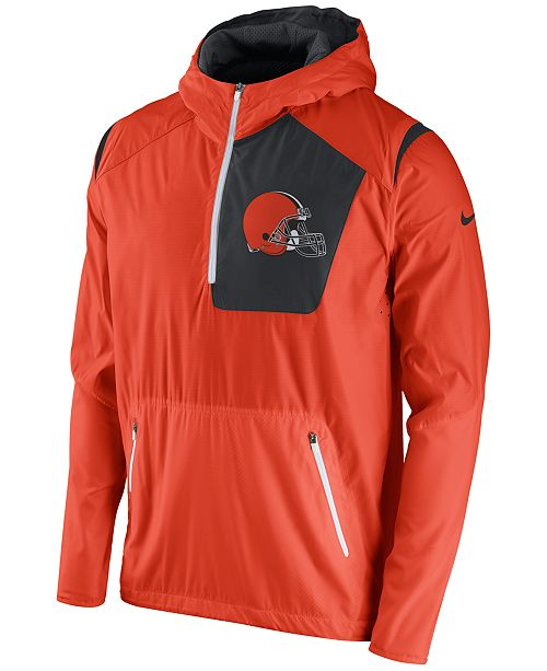 89b12ad3 Nike Men's Cleveland Browns Vapor Speed Fly Rush Hooded Jacket ...