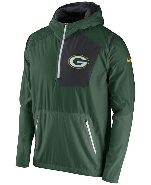 Nike Men's Green Bay Packers Vapor Speed Fly Rush Hooded Jacket