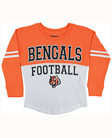 5th & Ocean Cincinnati Bengals Sweeper Long-Sleeve T-Shirt, Girls (4-16)
