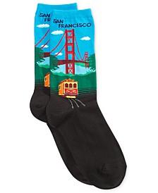 Hot Sox Women's Golden Gate Fashion Crew Socks