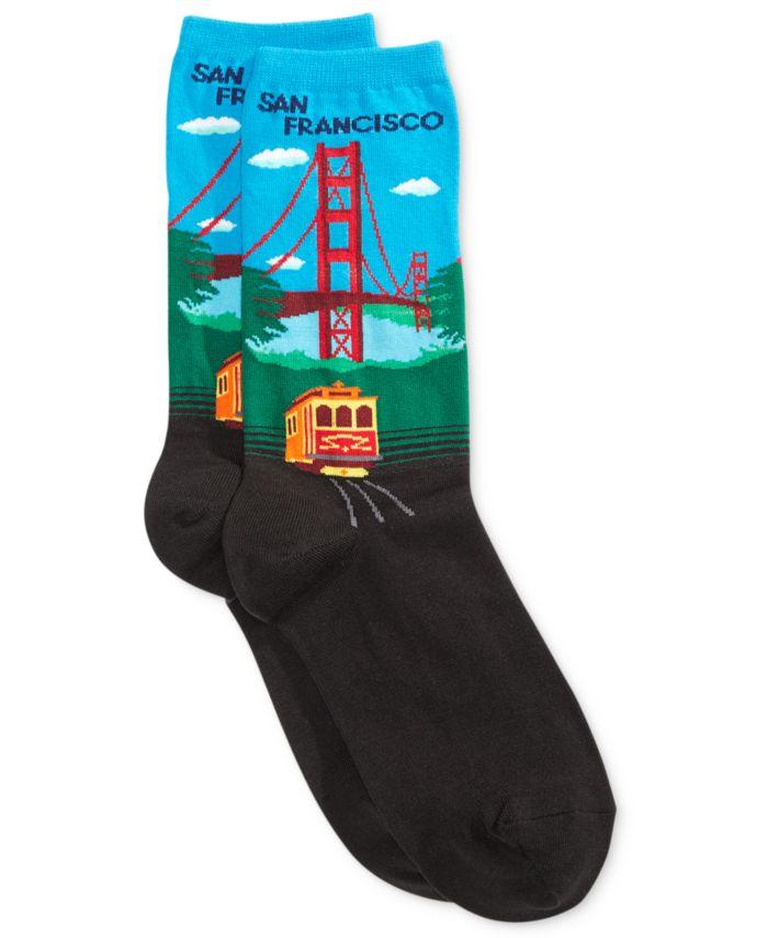 Hot Sox Women's Golden Gate Fashion Crew Socks & Reviews - Handbags & Accessories - Macy's