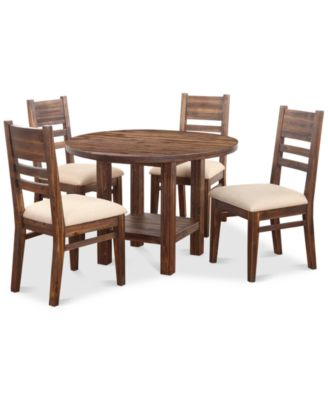 Avondale Round Dining Set 5Pc Dining Table 4 Side Chairs