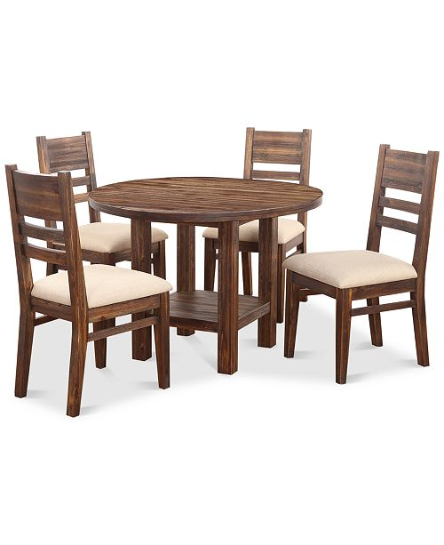 Furniture Avondale Round Dining Set, 5-Pc. (Dining Table & 4 Side Chairs), Created for Macy's