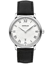 Montblanc Men's Swiss Tradition Black Alligator Leather Strap Watch 40mm 112633