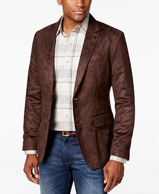 Tasso Elba Men's Microsuede Sport Coat, Created for Macy's ...