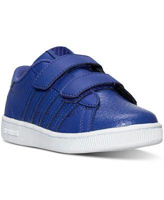 K-Swiss Little Girls' Hoke Strap Casual Sneakers from Finish Line
