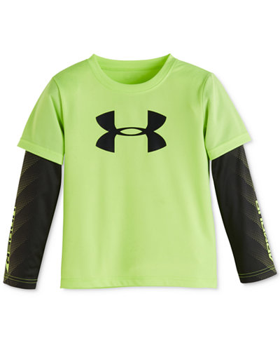 Under Armour Little Boys' Layered-Look Long-Sleeve Graphic-Print T-Shirt