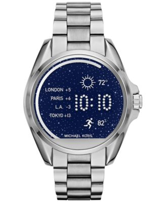 Image of Michael Kors Access Women's Digital Bradshaw Stainless Steel Bracelet Smart Watch 45mm MKT5012
