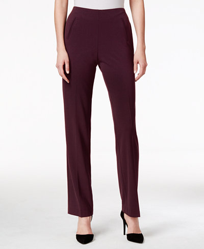 Style & Co Tummy-Control Pull-On Straight-leg Pants, In Regular & Petite Sizes, Created for Macy's