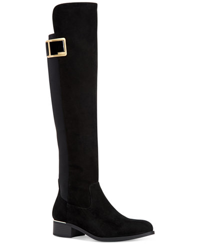 Calvin Klein Womens Cyra Over The Knee Boots