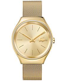 Lacoste Women's Valencia Gold-Tone Stainless Steel Mesh Bracelet Watch 38mm 2000952