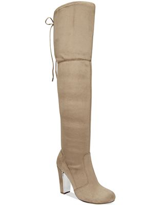 Material Girl Priyanka Over-the-Knee Stretch Boots, Only at Macy's
