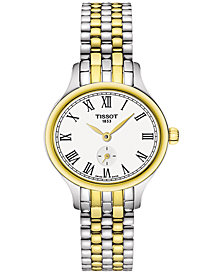 Tissot Women's Swiss Bella Ora Piccola Two-Tone PVD Stainless Steel Bracelet Watch 27mm T1031102203300