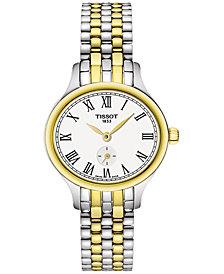 Tissot Women's Swiss Bella Ora Piccola Two-Tone PVD Stainless Steel Bracelet Watch 27mm T1031102203300