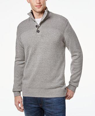 Tricots St. Raphael Men's Textured Mock-Neck Sweater