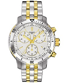 Men's Swiss Chronograph PRS 200 Two-Tone Stainless Steel Bracelet Watch 42mm T0674172203101