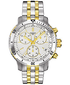 Tissot Men's Swiss Chronograph PRS 200 Two-Tone Stainless Steel Bracelet Watch 42mm T0674172203101