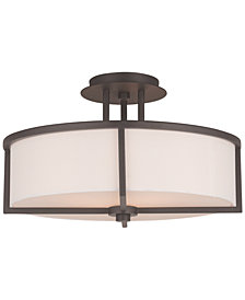 Livex Wesley 3-Light Semi-Flush Mount