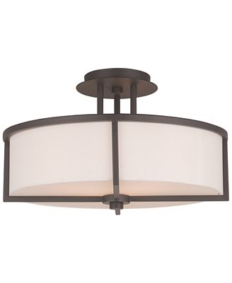 Livex wesley 3 light semi flush mount