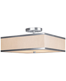 Livex Park Ridge 3-Light Semi-Flush Mount
