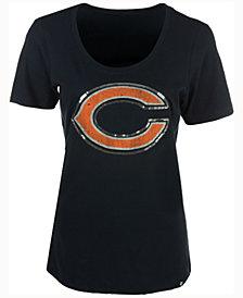 '47 Brand Women's Chicago Bears Lux Sequins Scoop T-Shirt
