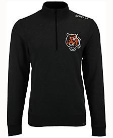 '47 Brand Men's Cincinnati Bengals Forward Compete Quarter-Zip Pullover
