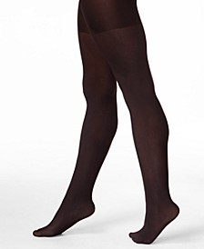 Women's  Opaque Reversible Tummy Control Tights, also available in extended sizes