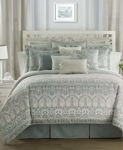 Waterford Allure Slate Gray Reversible Comforter Sets