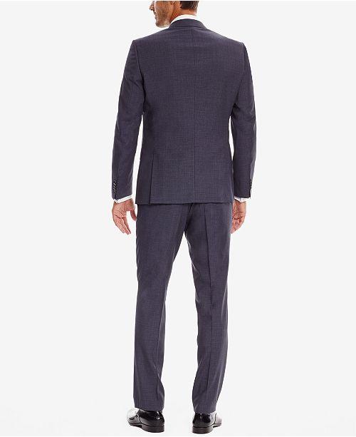 4800d8ff8 Hugo Boss BOSS Men's Slim-Fit Crosshatch Super 120 Virgin Wool 3 ...