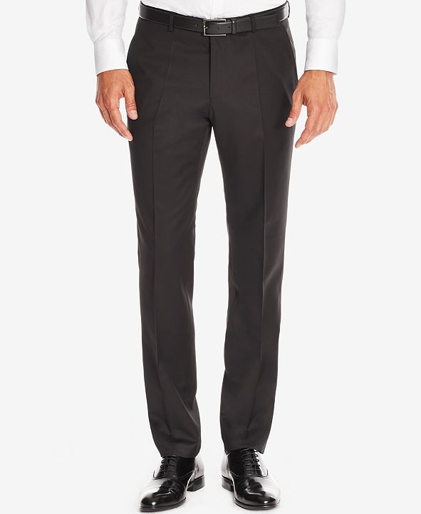 Hugo Boss BOSS Men's Regular/Classic-Fit Virgin Wool Dress Pants