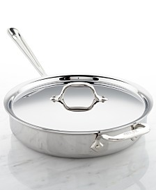 All-Clad d3 Armor Stainless Steel 3-Qt. Sauté Pan with Lid
