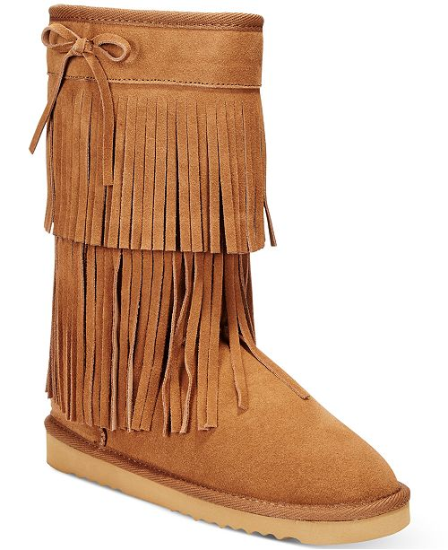 American Rag Senecah Cold-Weather Fringe Boots, Created for Macy's