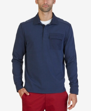 Nautica Men's Slim-Fit Knit Long-Sleeve Polo
