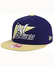 New Era Milwaukee Brewers Logo Stacker 9FIFTY Snapback Cap