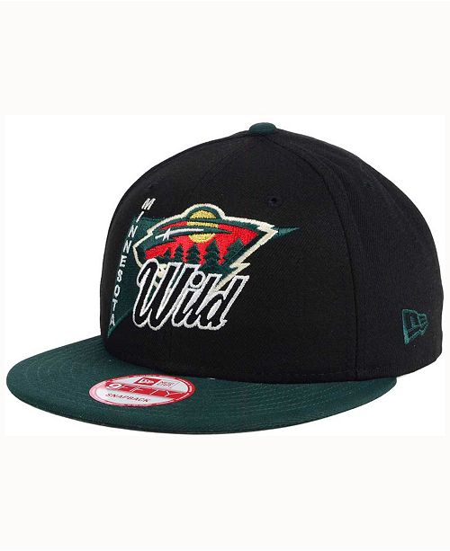 83d69365d04 New Era Minnesota Wild Logo Stacker 9FIFTY Snapback Cap - Sports Fan ...