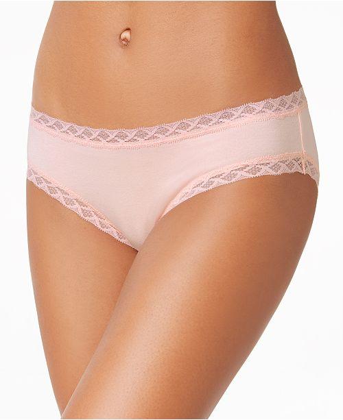 3400d774183 Natori Bliss Lace-Trim Cotton Brief 156058   Reviews - Bras