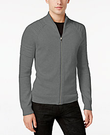 I.N.C. Men's In the Dark Full-Zip Sweater, Created for Macy's