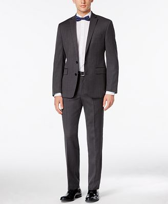 Ryan Seacrest Distinction Modern Fit Gray Birdseye Suit Separates, Only at Macy's