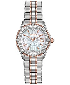 Citizen Women's Signature Diamond Accent Two-Tone Stainless Steel Bracelet Watch 29mm EW2276-80D