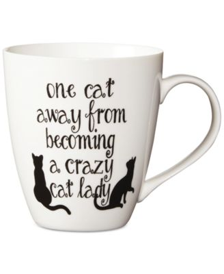 One Cat Away From Being A Crazy Cat Lady Mug