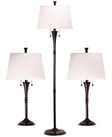 Classic 3 Piece Lamp Set