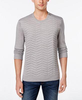 Calvin Klein Men's Slim-Fit Quilted Sweater - Sweaters - Men - Macy's : quilted sweaters - Adamdwight.com