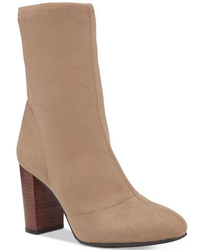 Vince Camuto Sendra Block Heel Booties Boots Shoes
