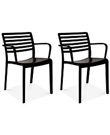 Lama Indoor/Outdoor Armchairs (Set of 2), Quick Ship