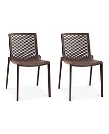 Netkat Set of 2 Indoor/Outdoor Chairs, Quick Ship