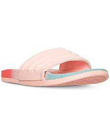 adidas Women's Adilette Cloud Foam Fade Slide Sandals from Finish Line