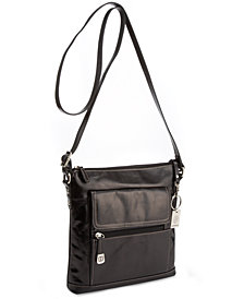 Giani Bernini Florentine Glazed Leather Venice Crossbody, Created for Macy's