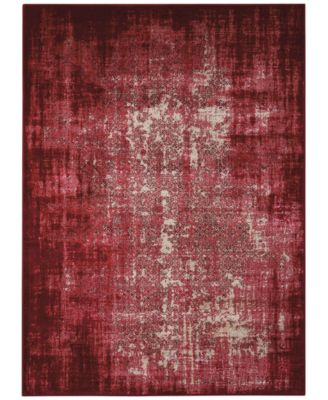 """Kismet KIS06 Red 9'3"""" x 12'9"""" Area Rug, Created for Macy's"""