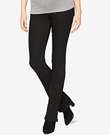 DL 1961 Boot-Cut Black Wash Maternity Jeans