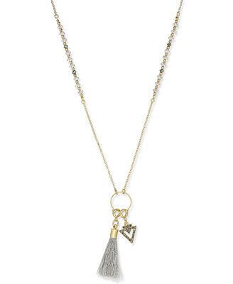 INC International Concepts Gold-Tone Long Charm Pendant Necklace, Created for Macy's